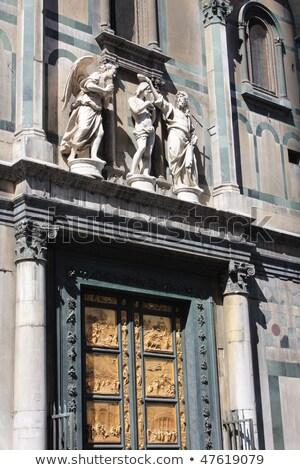 Arany ajtó Florence kép híres templom Stock fotó © magann