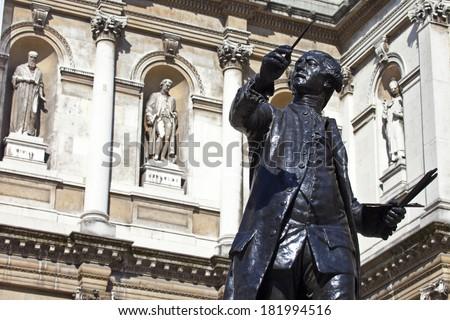 szobor · ház · angol · festő · házak · királyi - stock fotó © chrisdorney