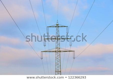 elektrik · kule · kar · kapalı · alanları · doğa - stok fotoğraf © meinzahn