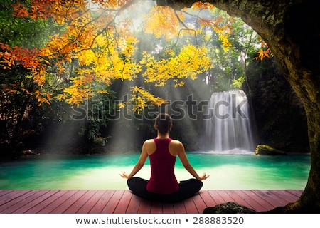 Beautiful young Thai woman meditating Stock photo © smithore