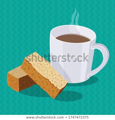 kawy · biały · kubek · hot · trzy · musli - zdjęcia stock © ottoduplessis