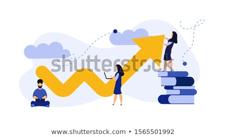 abstract rising arrows stock photo © designers