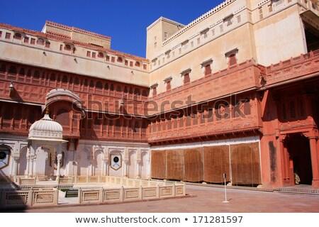 Main courtyard of Junagarh fort, Bikaner, Rajasthan, India  Stock photo © meinzahn