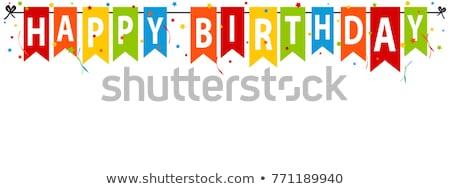 お誕生日おめでとうございます バナー 歳の誕生日 お祝い 風船 建物 ストックフォト © aspenrock
