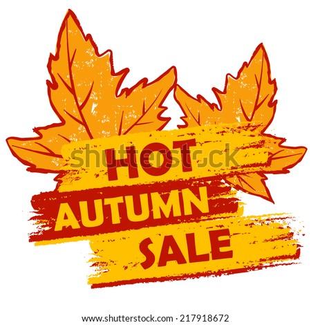 Stok fotoğraf: Sıcak · sonbahar · satış · yaprakları · turuncu · kahverengi