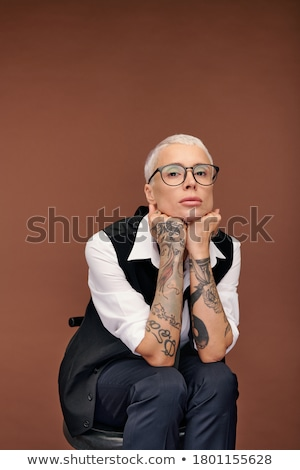 Style rétro mode bras président fumer Photo stock © arturkurjan