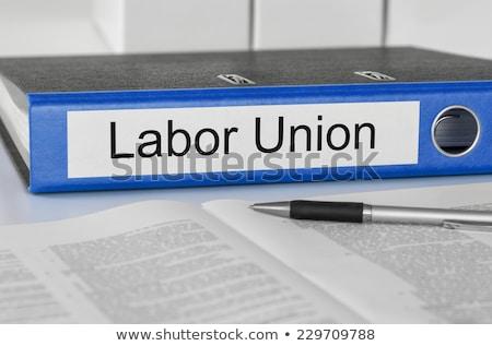 Ordner Label Geburtswehen Union Business Büro Stock foto © Zerbor