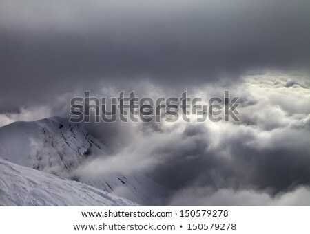 View on off-piste slope in bad weather Stock photo © BSANI
