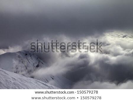 Helling slechte weer kaukasus bergen Georgië Stockfoto © BSANI