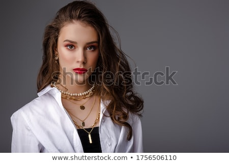 Atrakcyjna dziewczyna ambitny uśmiechnięta kobieta pracy dziewczyna Zdjęcia stock © Dave_pot
