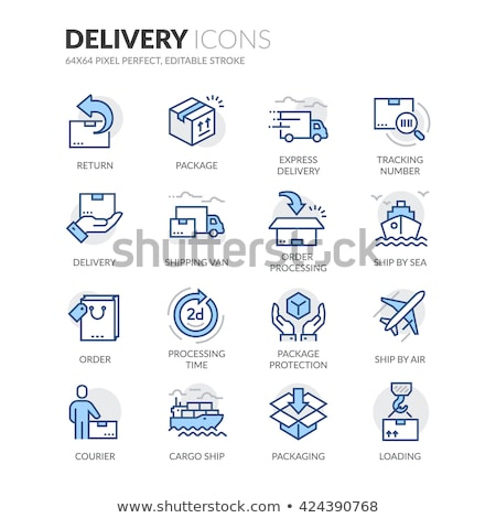 Shipping Colored Line Icons Stock photo © AnatolyM