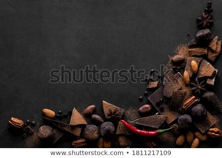 Pièces chocolat chili chaud piment alimentaire Photo stock © tannjuska