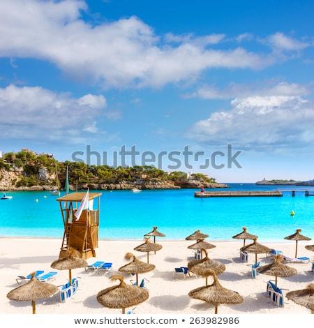 praia · mallorca · ilha · Espanha · paisagem · verão - foto stock © lunamarina