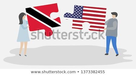 bandeira · branco · projeto · pintar · fundo · preto - foto stock © istanbul2009