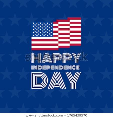 Dag Verenigde Staten eenvoudige icon vector Stockfoto © HelenStock