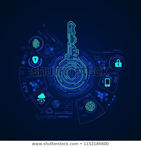 seguridad · palabra · teclado · blanco · ordenador · tecnología - foto stock © fuzzbones0