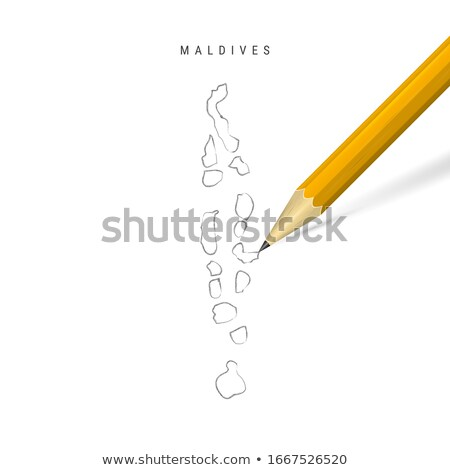 Doodle Map of Maldives Stock photo © ojal