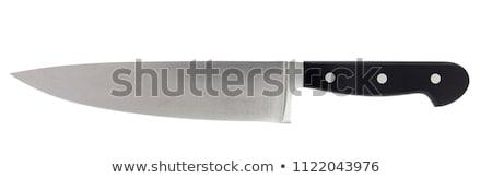 büyük · mutfak · bıçak · yalıtılmış · beyaz - stok fotoğraf © michaklootwijk