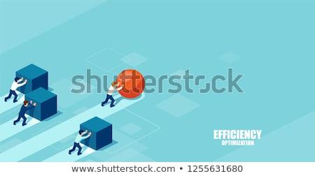 Business concurrentie kaukasisch zakenman Maakt een reservekopie ander Stockfoto © RAStudio