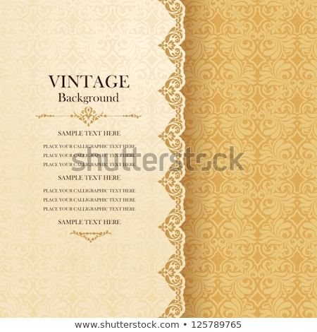 Vintage  invitation card with ornate elegant abstract floral des Stock photo © Morphart