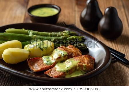 łososia filet ziemniaki serwowane kalafior żywności Zdjęcia stock © Digifoodstock