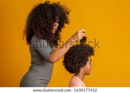 Fekete fésű haj izolált Stock fotó © shutswis