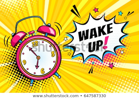 vector illustration of retro alarm clock stock photo © freesoulproduction