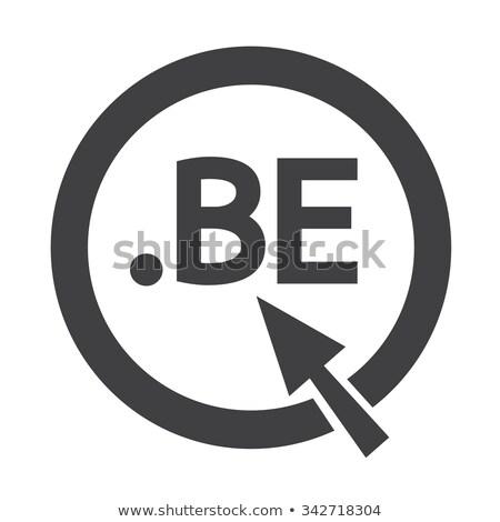 Бельгия домен точка знак икона иллюстрация Сток-фото © kiddaikiddee