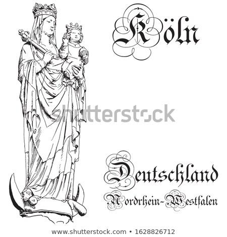 parfüm · Németország · középkori · porta · fő- · bejárat - stock fotó © meinzahn
