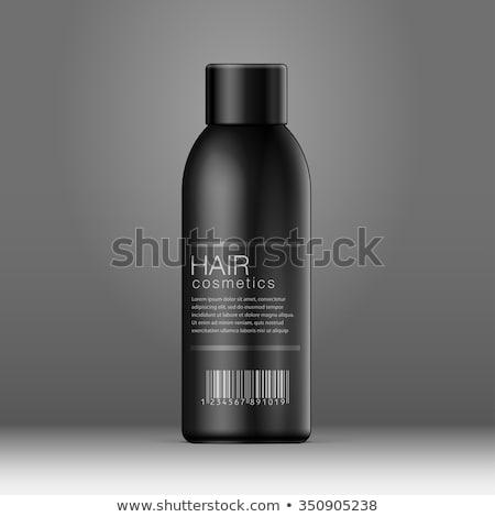 Grijs elegante parfum fles zwarte donkere Stockfoto © Studiotrebuchet
