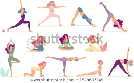 Meisje verschillend activiteiten illustratie boek kind Stockfoto © bluering