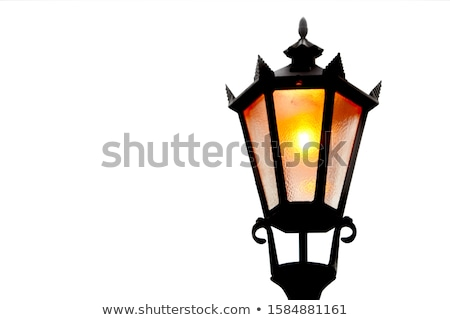 lámpa · elhagyatott · ház · vízszintes · fotó · ajtó - stock fotó © zurijeta