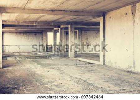 terkedilmiş · Bina · çalışmak · soyut · bakıyor - stok fotoğraf © klinker