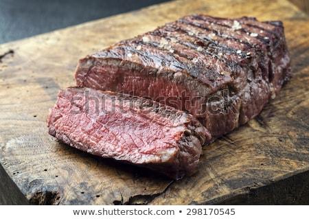 Frito solomillo carne de vacuno madera fondo cocina Foto stock © M-studio