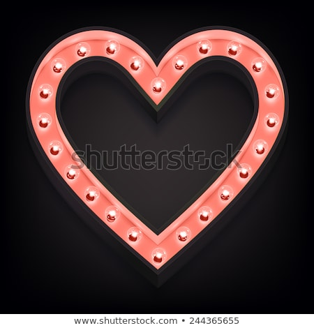vector marquee heart symbol stock photo © m_pavlov