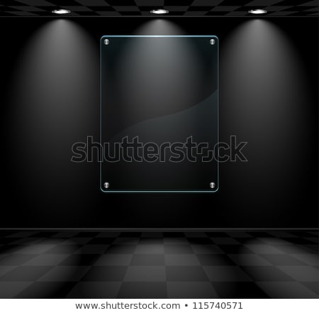 Stock photo: Room with black glass placeholder