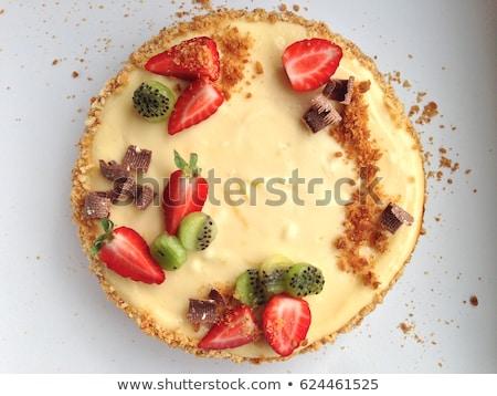 белый закуска пластина пусто прямоугольник десерта Сток-фото © Digifoodstock
