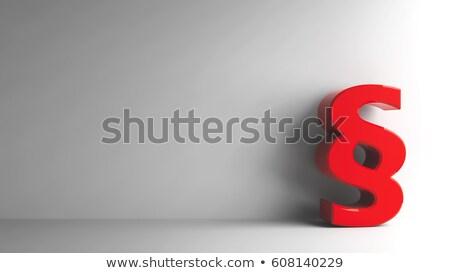 Kırmızı paragraf imzalamak yalıtılmış beyaz Stok fotoğraf © Oakozhan