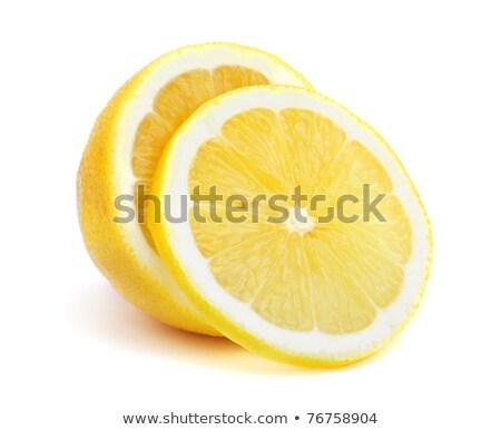 Egész citromok fehér fából készült csoport trópusi Stock fotó © Digifoodstock