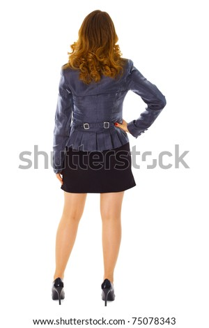 Back view of woman in black hoses Stock photo © julenochek