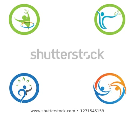 Menselijke karakter logo teken gezondheidszorg business Stockfoto © Ggs
