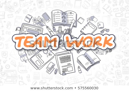 Business Skills - Cartoon Orange Word. Business Concept. Stock photo © tashatuvango