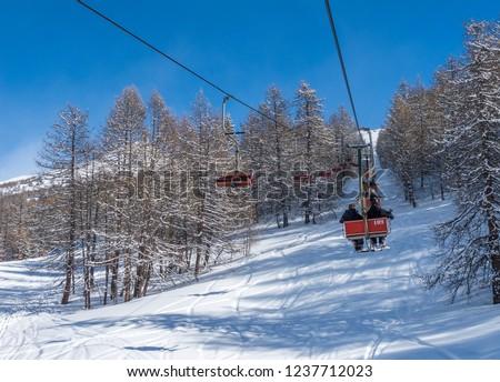 chair lift in italian alps stock photo © antonio-s