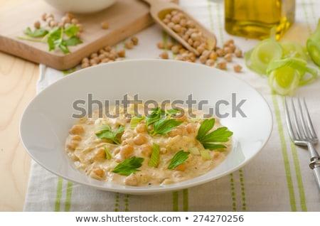 奶油 咖哩 木 背景 晚餐 米 商業照片 © M-studio