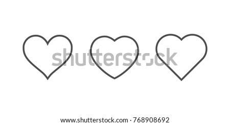 Ilustración diferente corazones aislado blanco amor Foto stock © DeCe