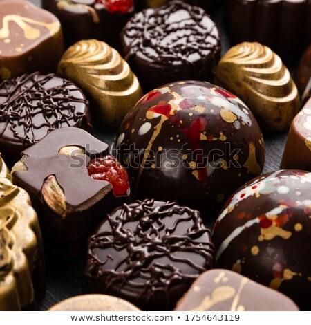роскошь шоколадом конфеты частей мята Сток-фото © DenisMArt