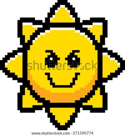 Zło cartoon słońce ilustracja patrząc stylu Zdjęcia stock © cthoman