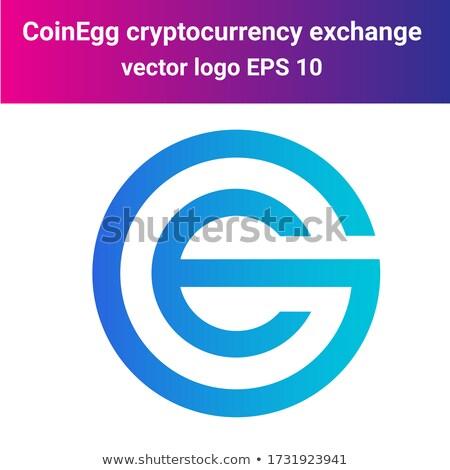 Exchange - Coinegg. The Crypto Coins or Cryptocurrency Logo. Stock photo © tashatuvango