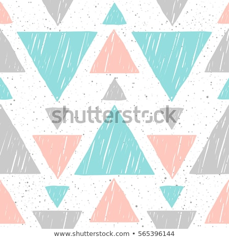 Blue and grey triangle seamless vector pattern. Stock photo © yopixart