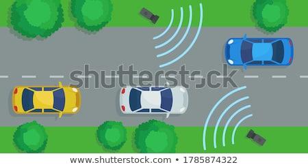 Radar snelheid controle camera weg auto Stockfoto © cookelma